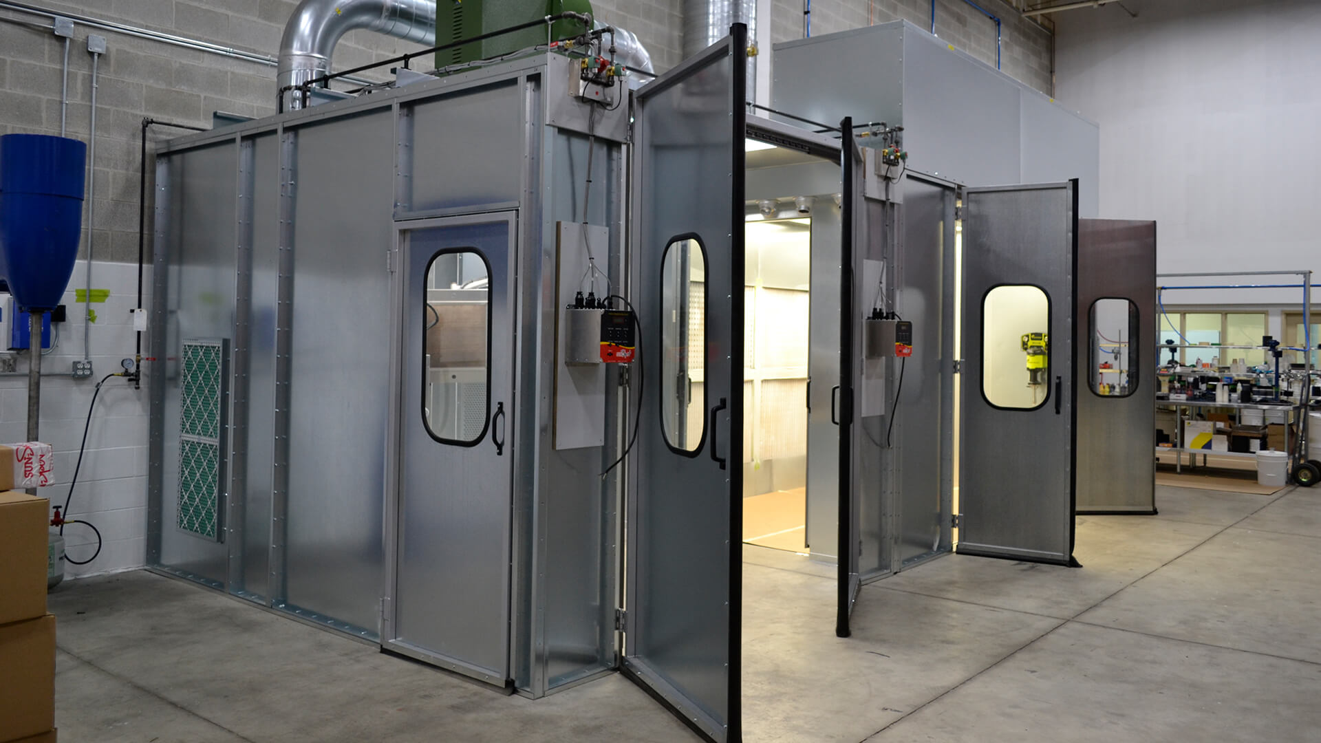 spray and curing booth